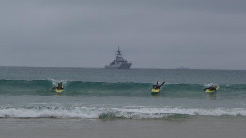 戰艦和衝浪者