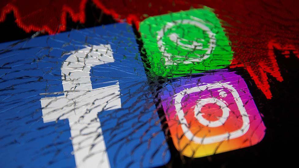 Los logos de Facebook, WhatsApp e Instagram