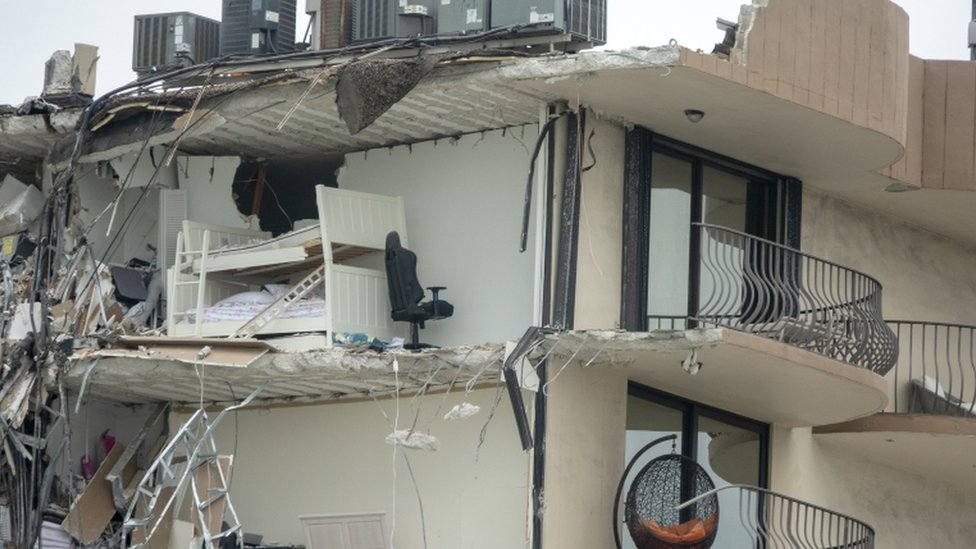 Derrumbe del edificio