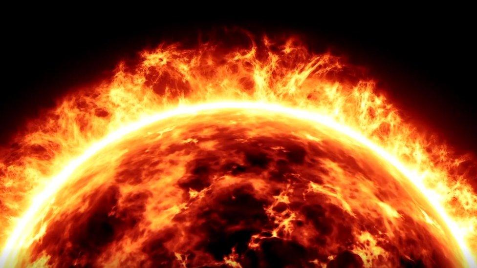Ilustrasi aktivitas Matahari