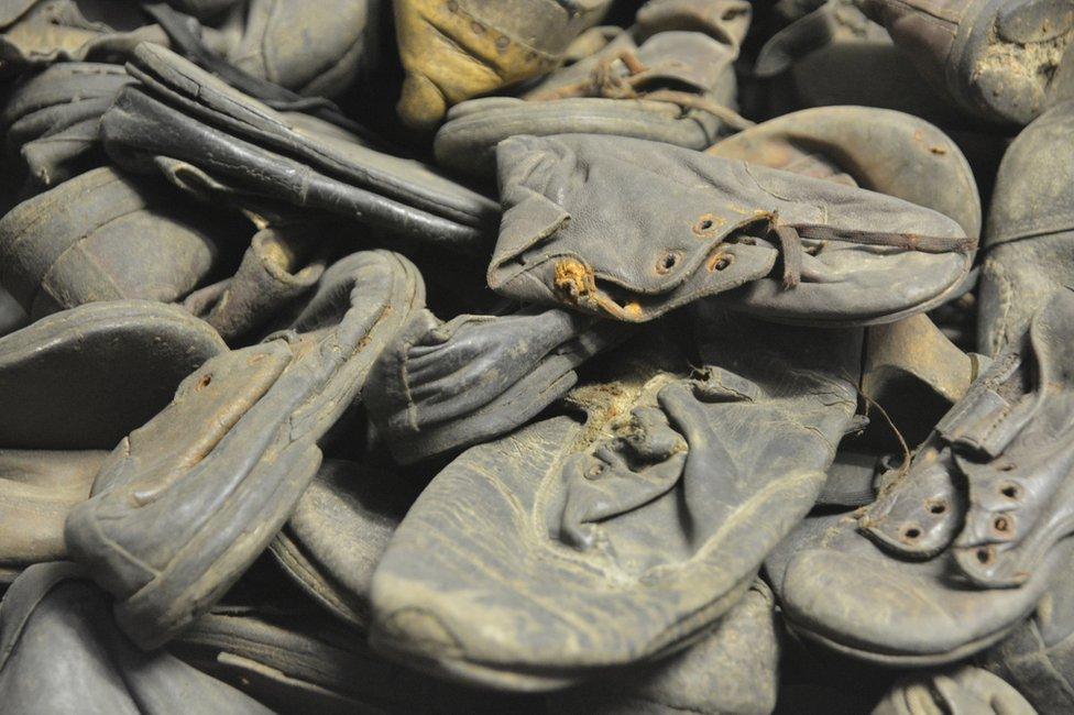 Zapatos rotos de judíos alemanes.