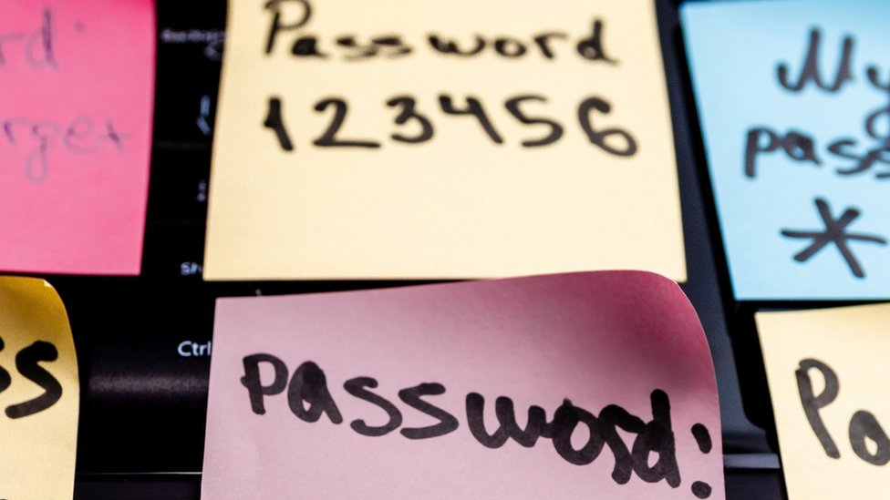 Password stickers