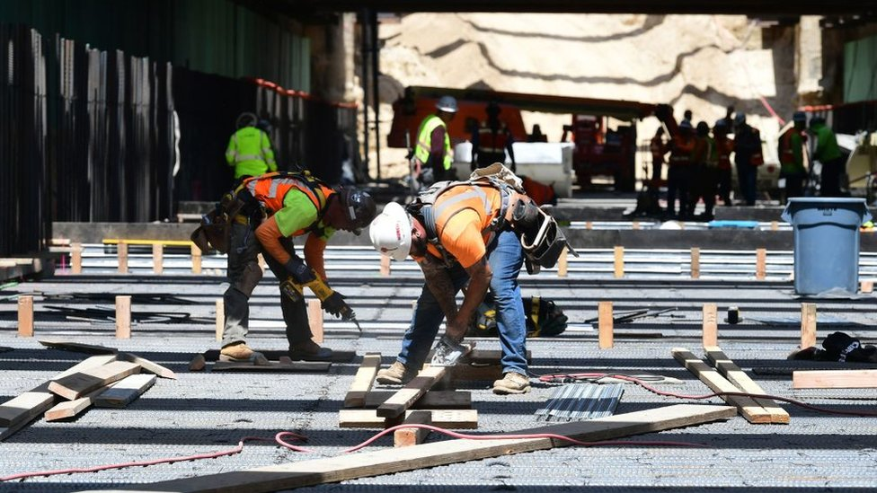 Trabajadores en Fresno