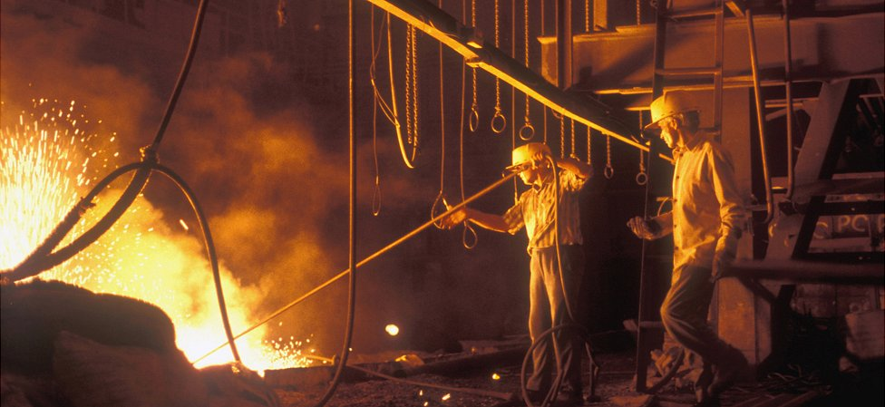 Steel furnace in Jharkhand, 2000 pic