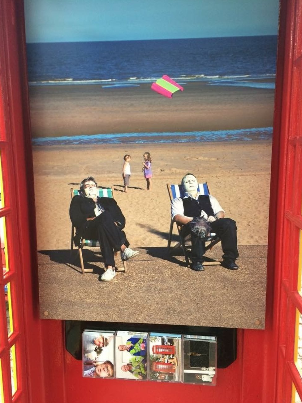 Inside of the phone box