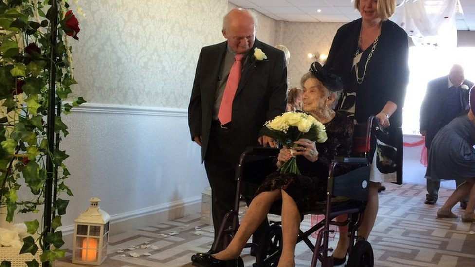 Woman, 100, marries partner after 30 years