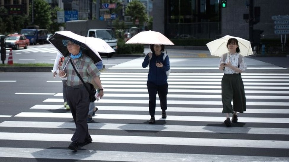 Record high in Japan heatwave