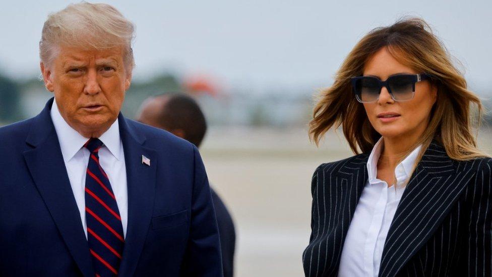 Donald and Malania Trump