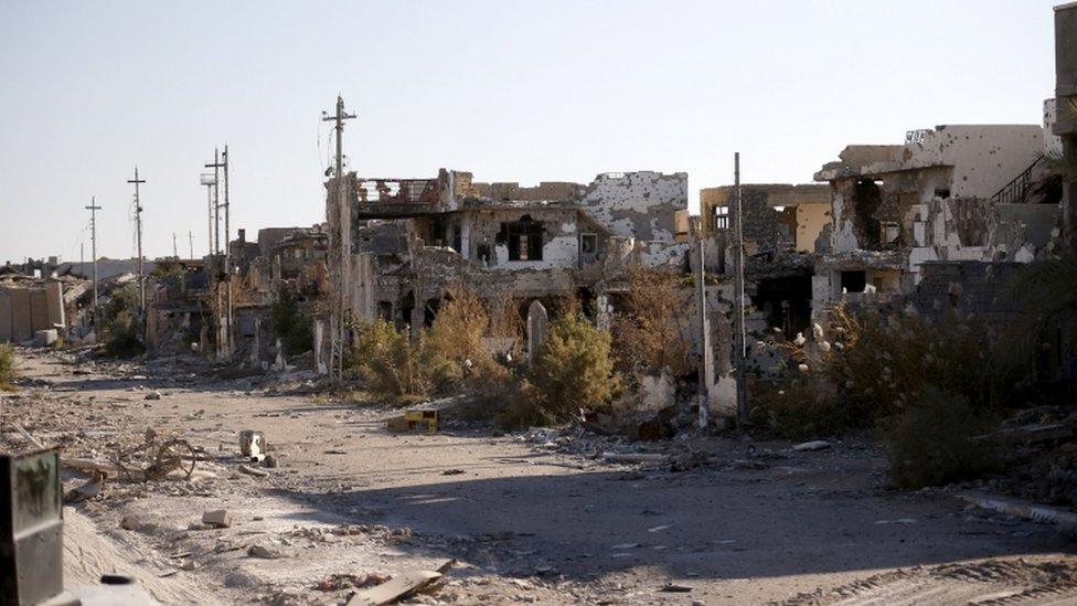 Destruction in Ramadi, 16 Jan