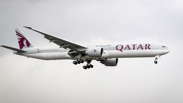 Avión de Qatar