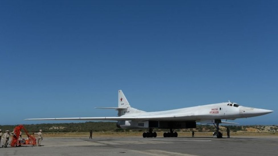 NO USAR / BBC Bombardero Tupolev 160 de diseño soviético.