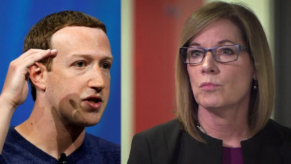 Mark Zuckerberg and Elizabeth Denham
