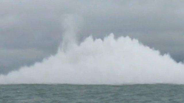 Royal Navy explosion