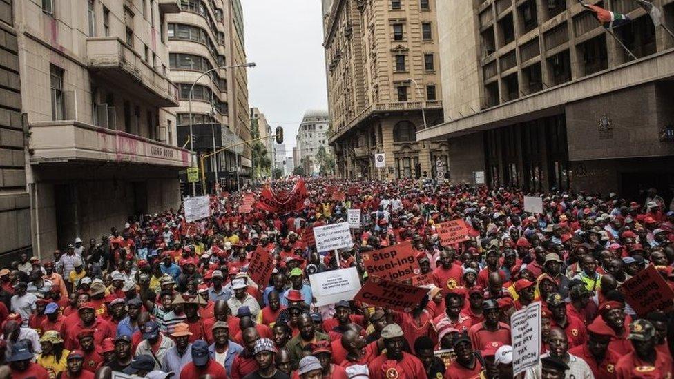 Anti corruption protest in Johannesburg (14 October 2015)