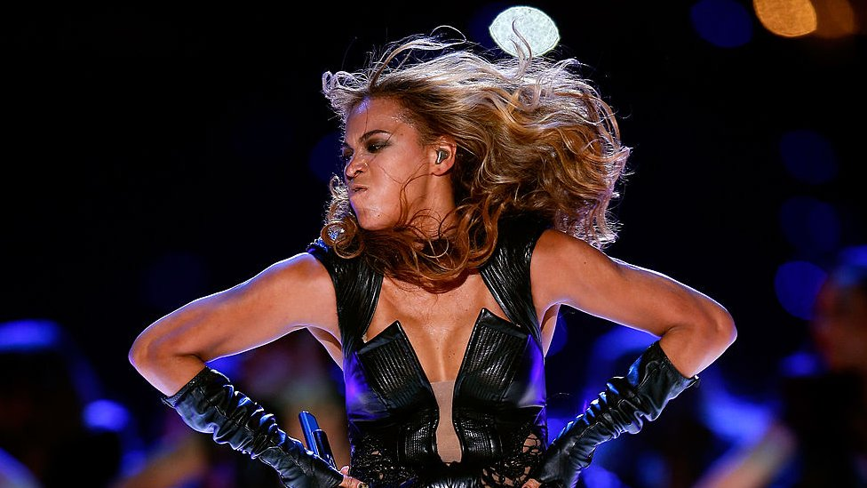 Beyoncé en la Superbowl de 2013.
