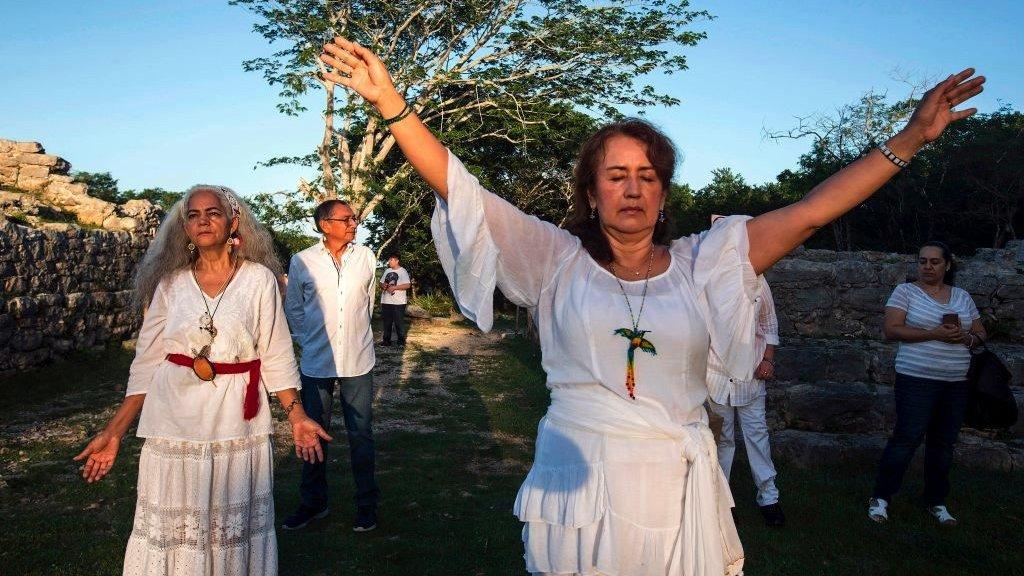 من احتفالات اعتدال الخريف في المكسيك العام الماضي