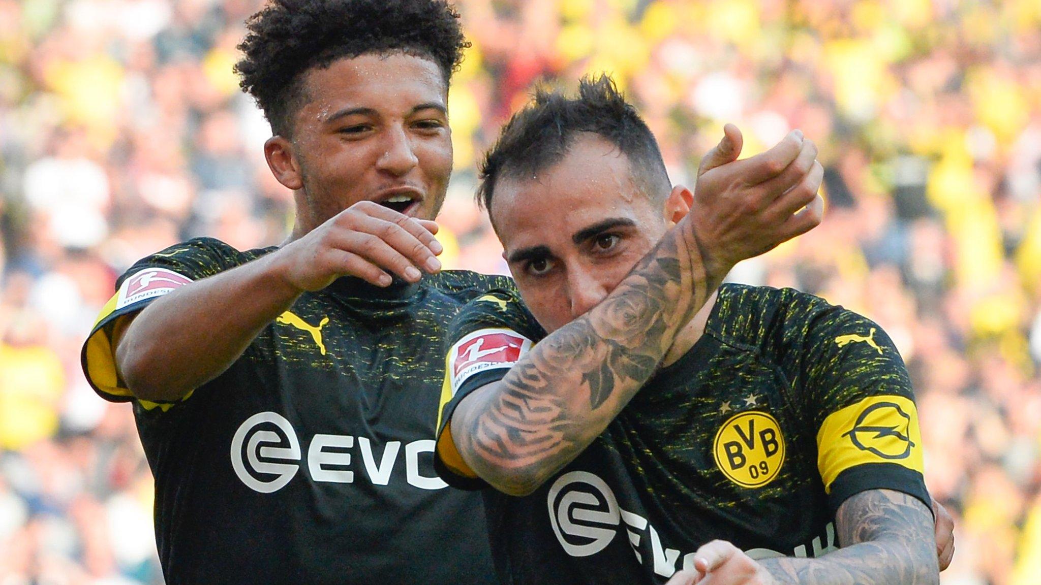 England teenager Sancho scores as Dortmund beat Stuttgart