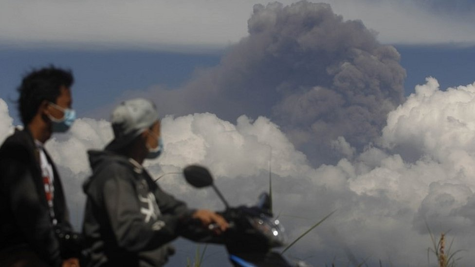 View of Mt Raung earlier this week