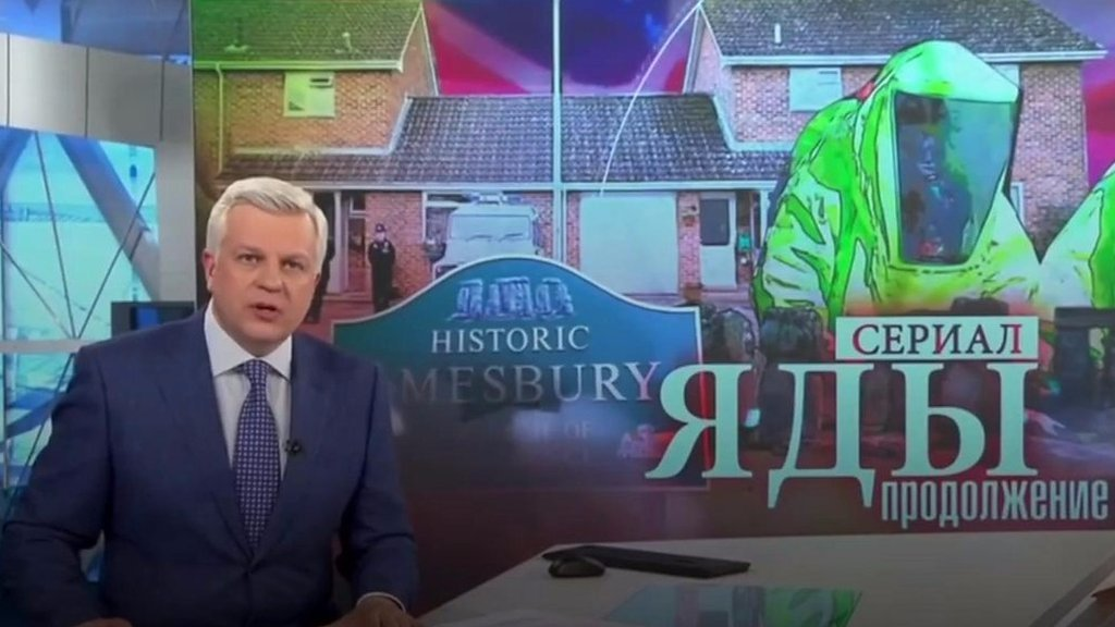 What does Russian media think about the Novichok poisonings?