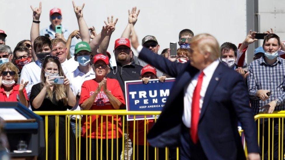 Trump campaigns in Minneapolis, Minnesota
