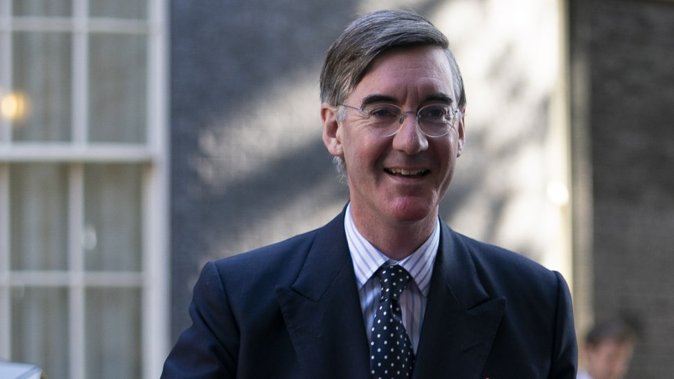 Jacob Rees-Mogg outside Downing St