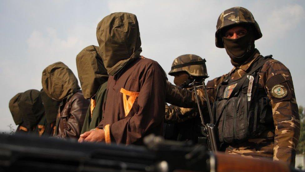 Taliban soldiers captured by Afghan forces in 2019