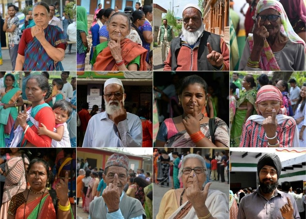 India. -