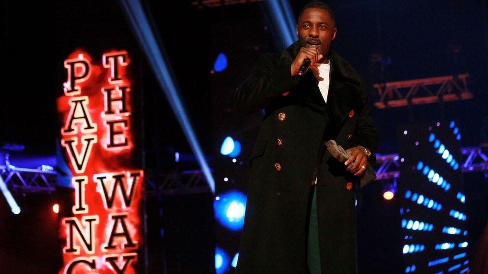 Idris Elba at the Mobo Awards