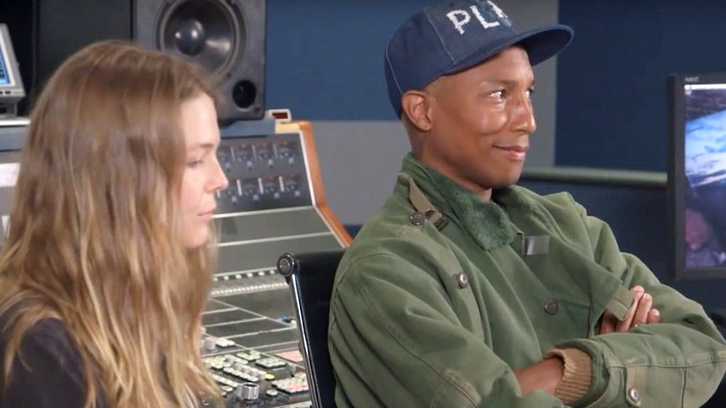 Pharrell Williams and Maggie Rogers