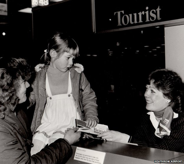 Passenger check in at T1 in 1969