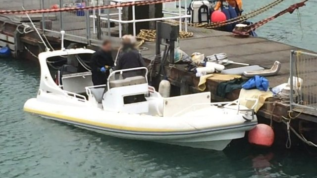 The boat believed to be linked to the investigation