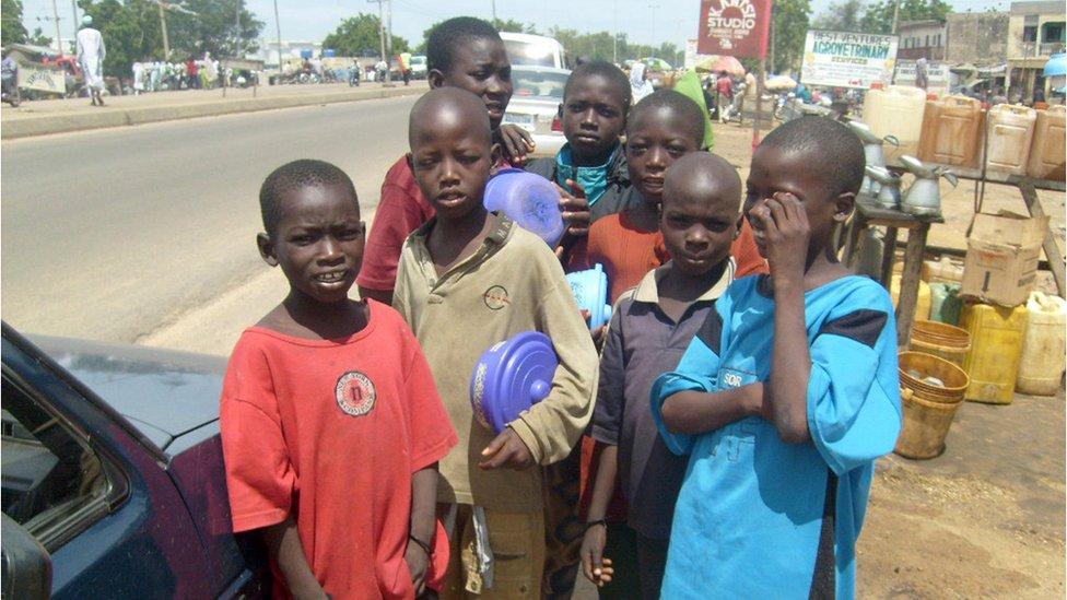 Niños en Kano. Foto de archivo: 2009
