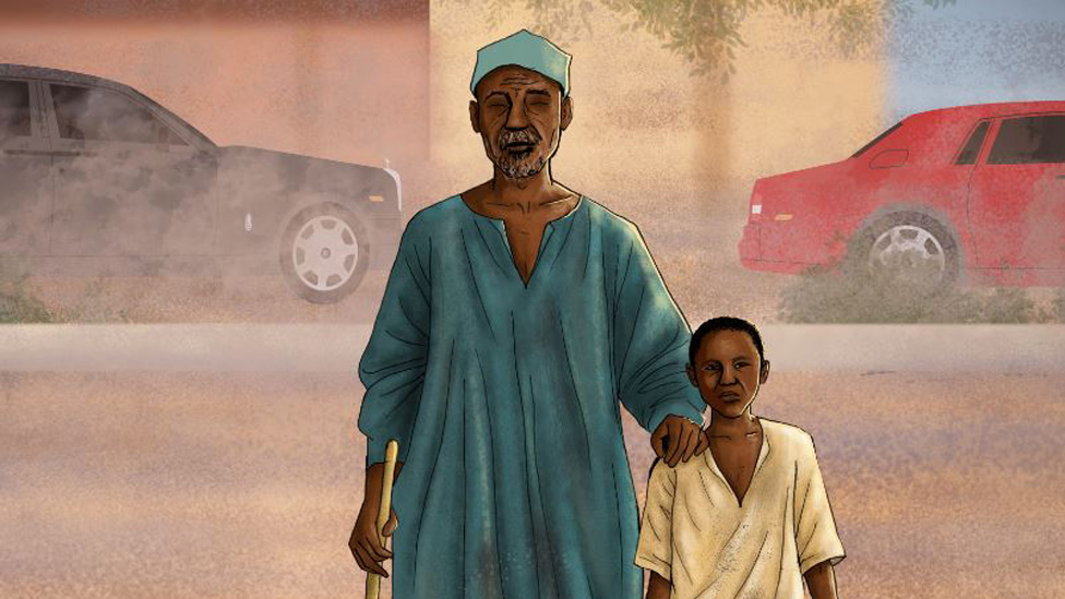 The boy abducted to guide blind beggars in Nigeria