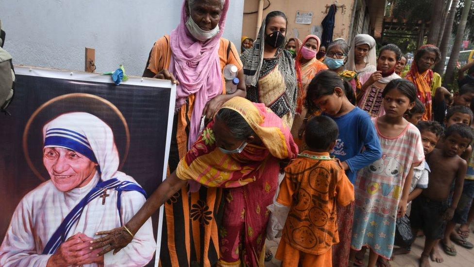 Una imagen de la Madre Teresa de Calcuta