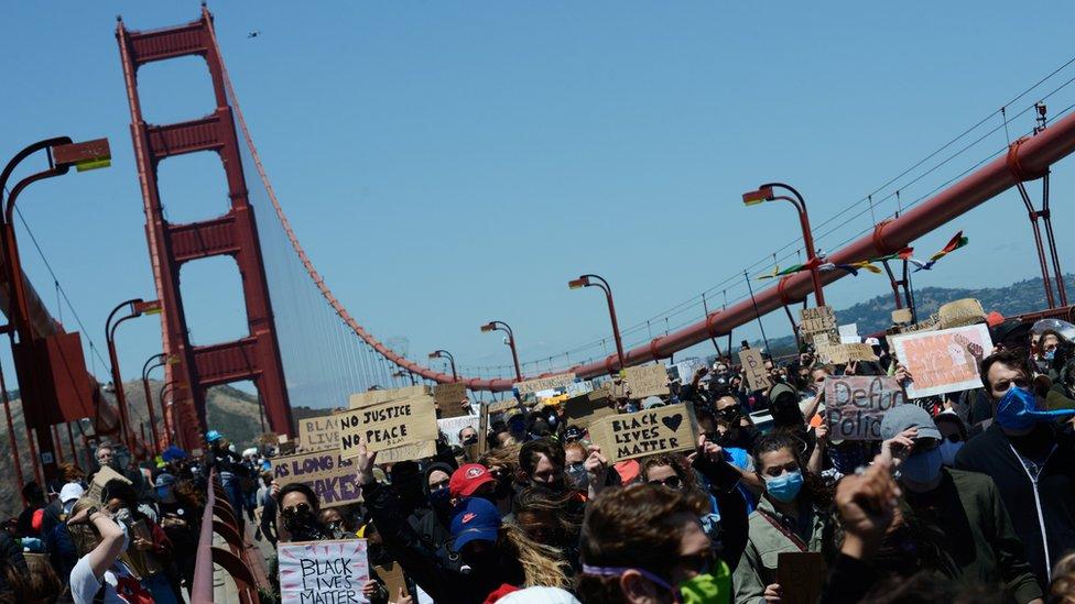 Manifestantes en San Francisco
