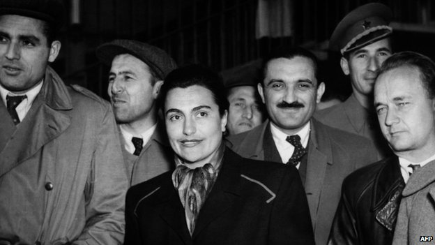 Jovanka Broz at a Communist Party congress in Zagreb (then part of Yugoslavia), 1952