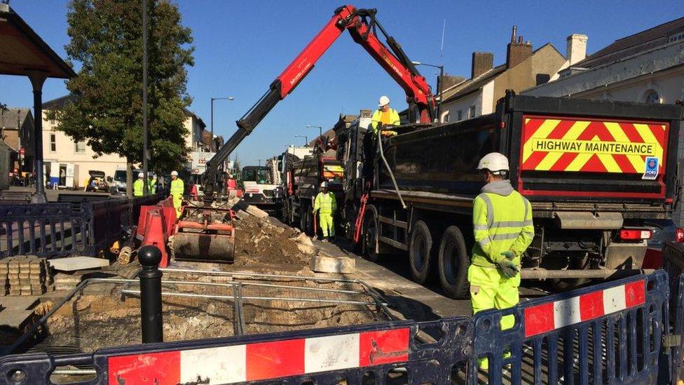 Dunstable High Street 'much-needed' revamp under way