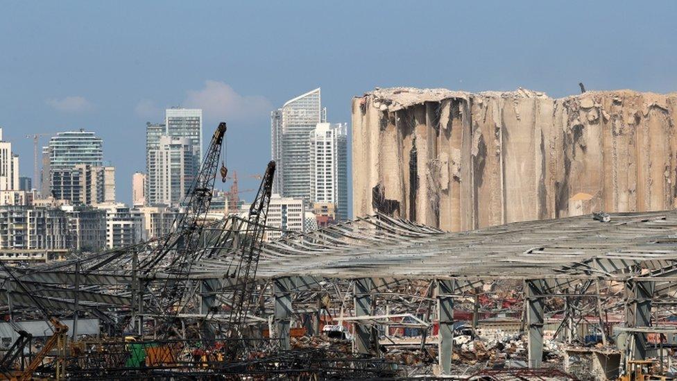 جانب من الدمار في بيروت