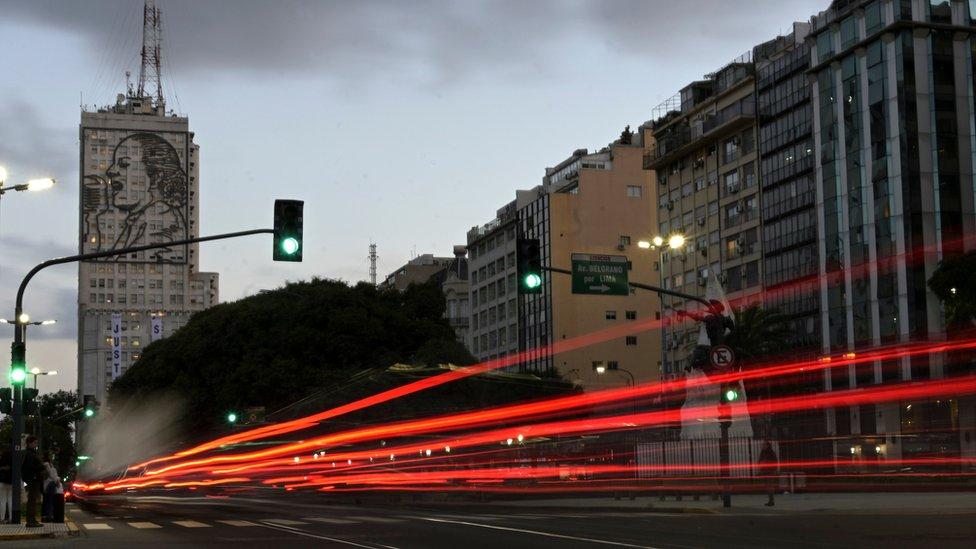 NO USAR. BBC. Mural de Evita en Buenos Aires