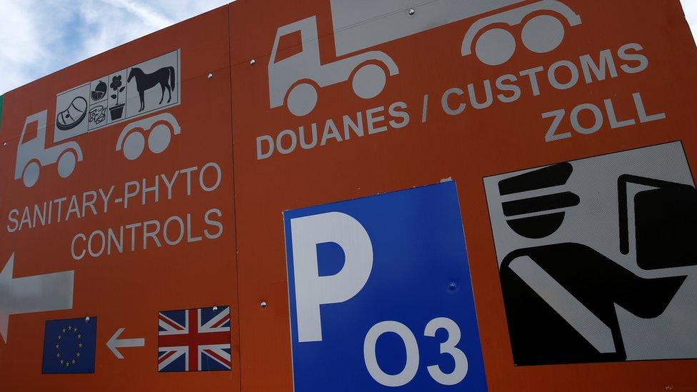 Border control at Calais