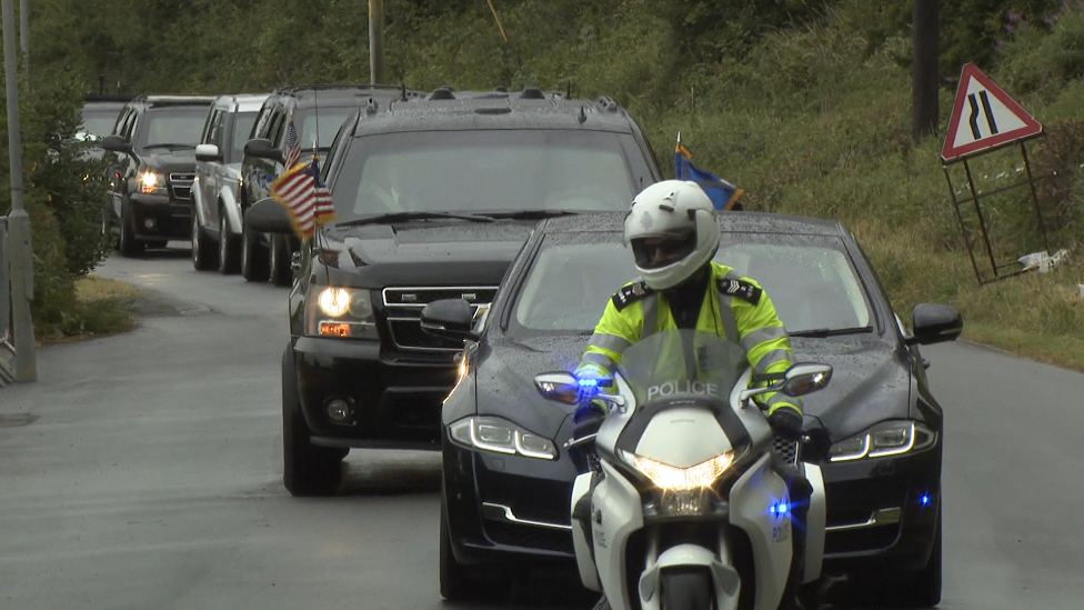 Trump motorcade