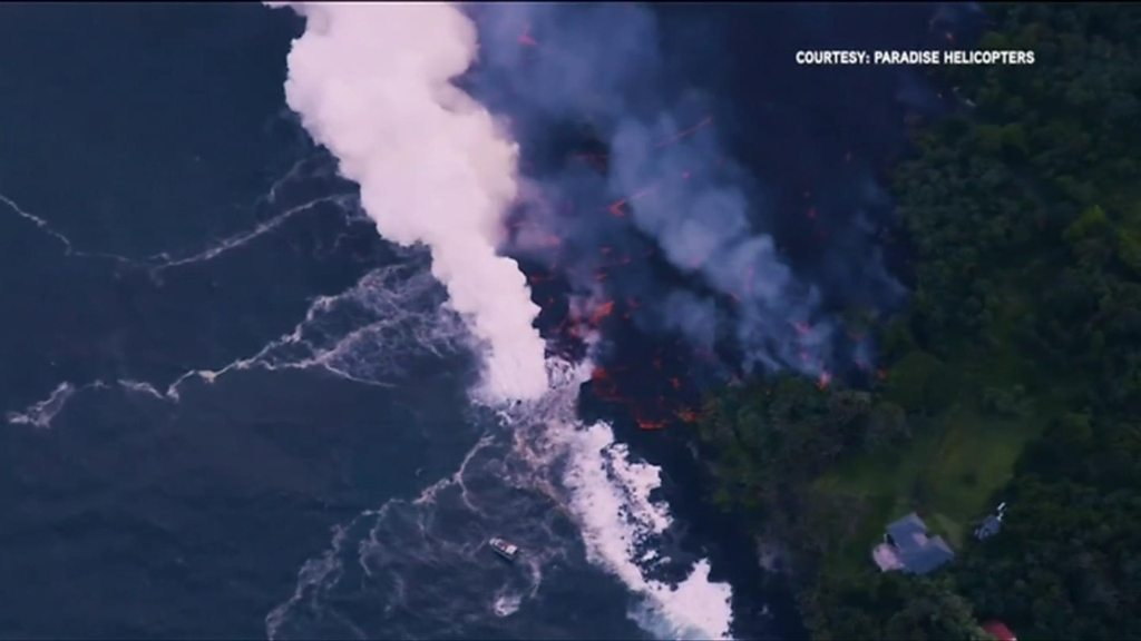 What happens when lava meets the sea