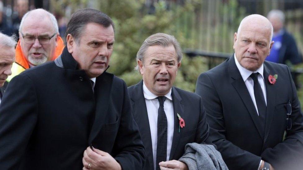 Graeme Sharp, Adrian Heath and Andy Gray