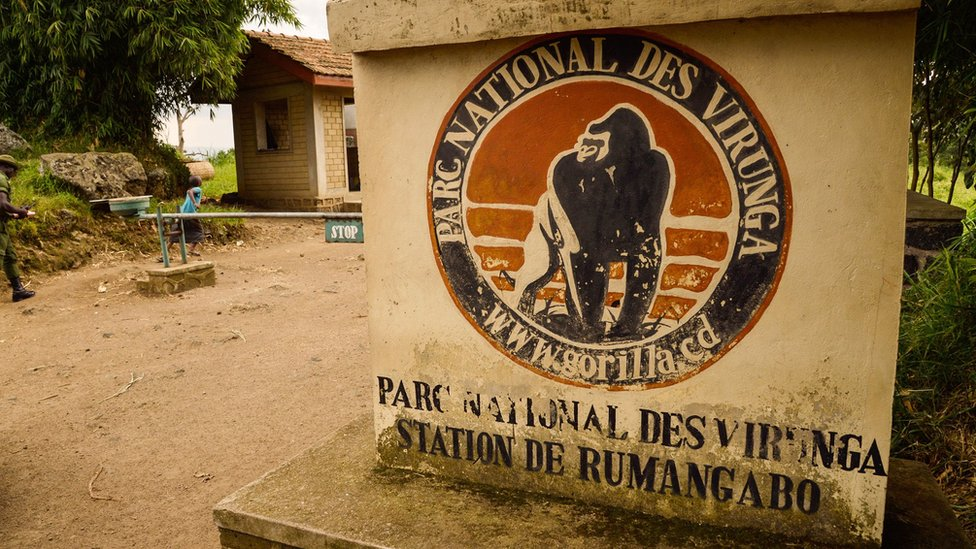 Entrance to Virunga National Park in the Democratic Republic of Congo