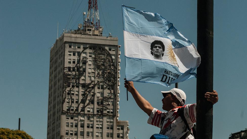 Bandera de Maradona