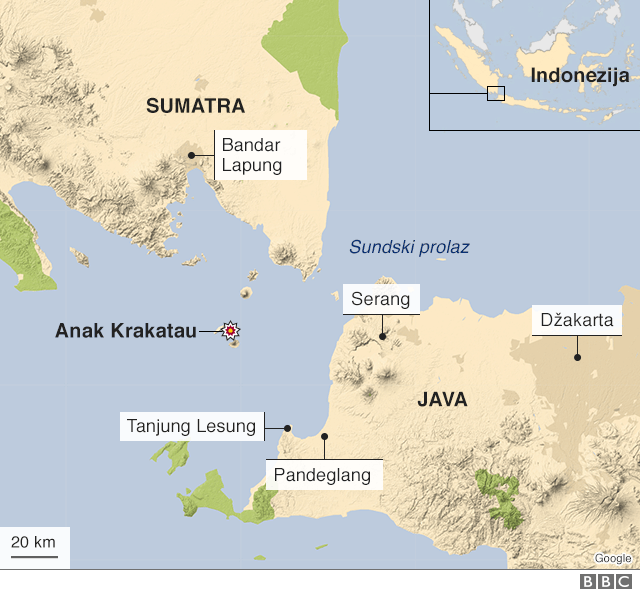 mapa Indonezije