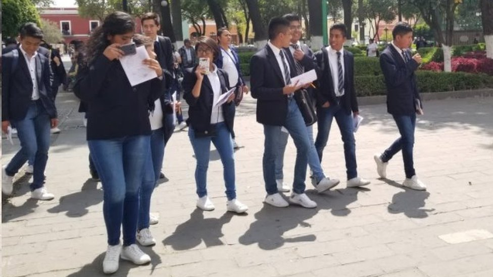 Estudiantes en Tlaxcala