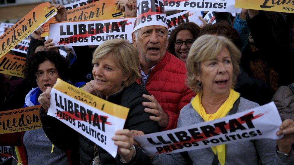 Separatist rally in Barcelona, 11 Nov 17