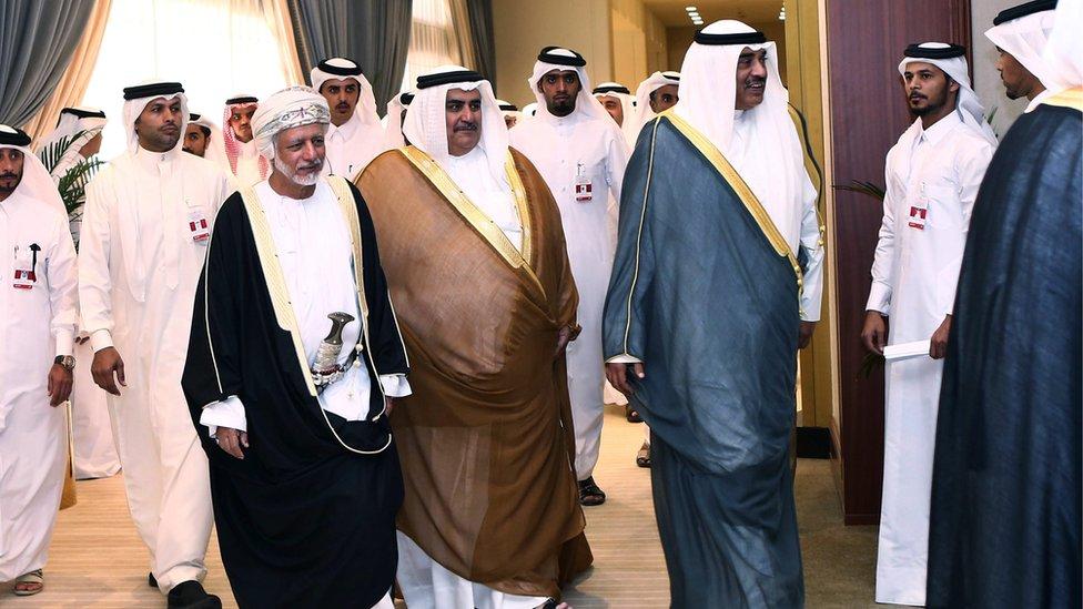 GCC delegates in Doha (Aug 2015)