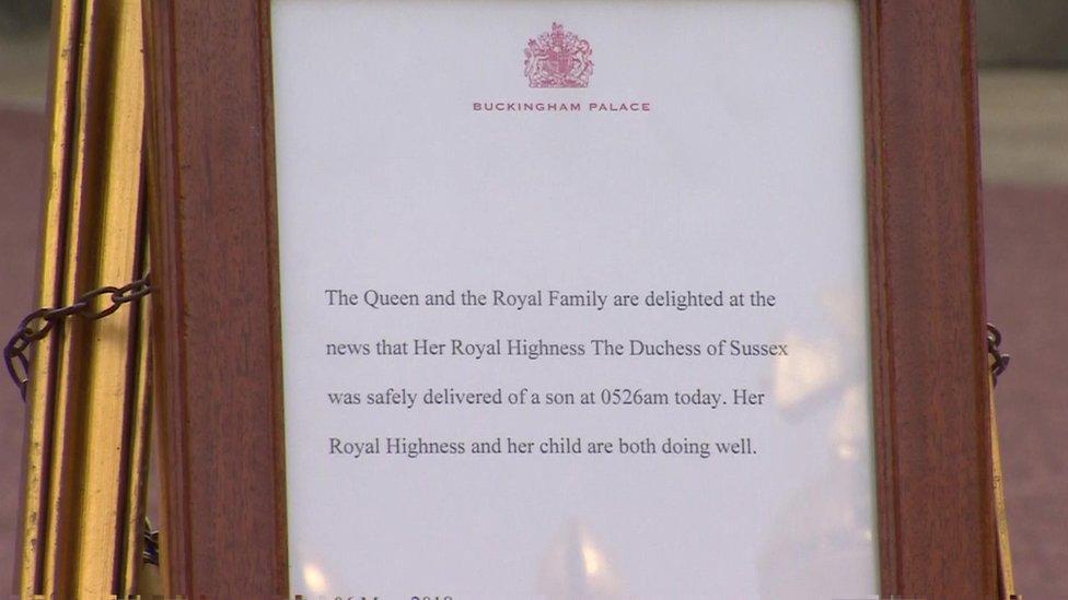 Objava rođenja kraljevske bebe